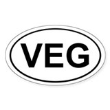 Veg Oval Decal