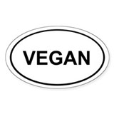 Vegan Sticker (White Oval)
