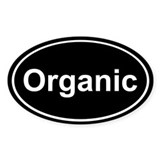 Organic Sticker (Black Oval)