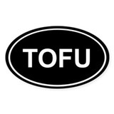 Tofu Sticker (Black Oval)