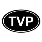 TVP Sticker (Black Oval)