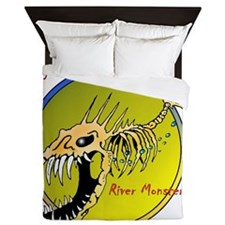 RIVER MONSTERS Queen Duvet