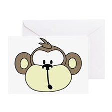 MonkeyFace-600-7inch Greeting Card