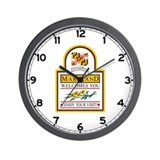 Welcome to Maryland - USA Wall Clock