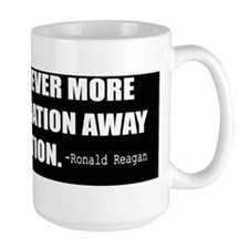 Reagan-Quote-Freedom-(black) Mug