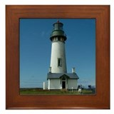 Yaquina Lighthouse Framed Tile