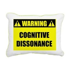 warningcognitivedissonan Rectangular Canvas Pillow
