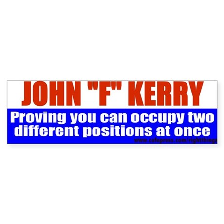 Jphn Kerry: Master of &quot;F&quot;ysics Bumper Sticker