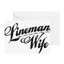 linemans wife black Greeting Card