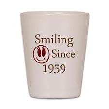 smiling 59 copy Shot Glass