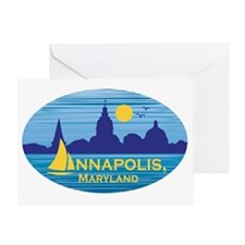 Annapolis, Maryland stickers for cha Greeting Card