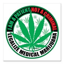 "Patient-not-Criminal-200 Square Car Magnet 3"" x 3"""