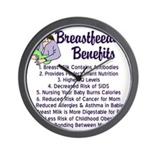 breastfeedingbenefits Wall Clock