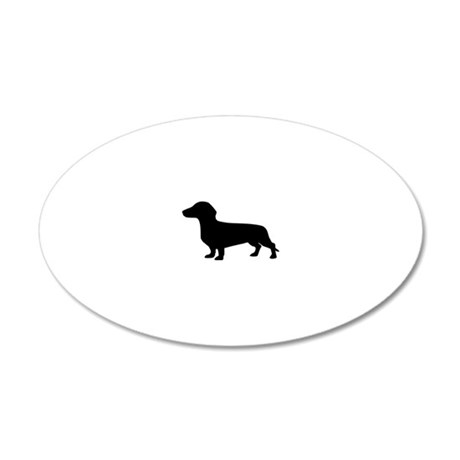sausage_dog 20x12 Oval Wall Decal