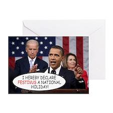 obama_speaking Greeting Card
