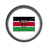Kenya Flag Wall Clock
