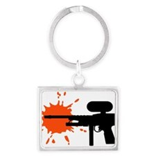 paintball_weapon_splash Landscape Keychain