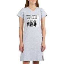duplicate bridge Women's Nightshirt