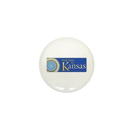 Welcome to Kansas - USA Mini Button
