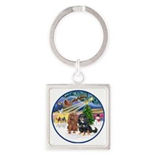 R-Xmas Magic - Two Cavaliers (R=BT Square Keychain