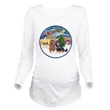 R-Xmas Magic - Two C Long Sleeve Maternity T-Shirt