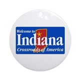 Welcome to Indiana - USA Ornament (Round)