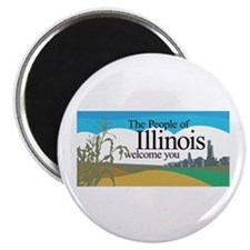 Welcome to Illinois - USA Magnet