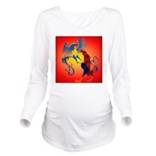 Two Colorful Fightin Long Sleeve Maternity T-Shirt