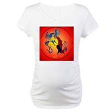 Two Colorful Fighting Roosters c Shirt