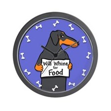 Black and Tan Doxie Will Whine Wall Clock
