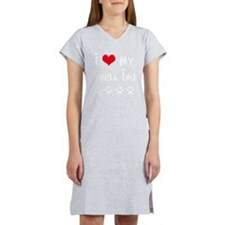 I-Love-My-Shiba-Inu-dark Women's Nightshirt