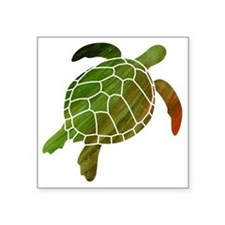 "swimmingturtle Square Sticker 3"" x 3"""