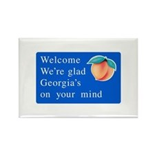Welcome to Georgia - USA Rectangle Magnet