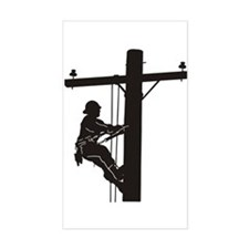 lineman silhouette 1_black Decal