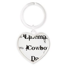 3 coyboy lineman daddy_black Heart Keychain
