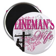 linemans wife3 white Magnet