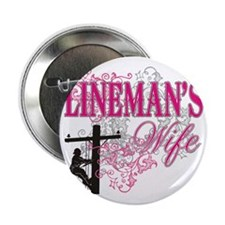 "linemans wife3 white 2.25"" Button"