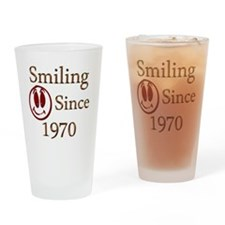 smiling 70 copy Drinking Glass