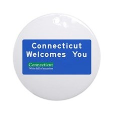 Welcome to Connecticut - USA Ornament (Round)