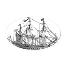 ships ii Oval Car Magnet