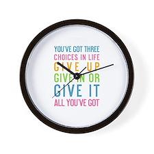 Cute Run life Wall Clock