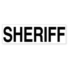 SHERIFF Bumper Bumper Sticker