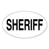 SHERIFF Oval Decal