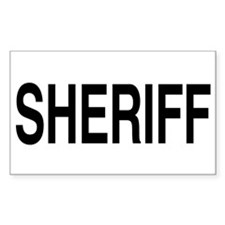 SHERIFF Rectangle Decal