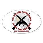 2A NOT for Hunters Oval Sticker
