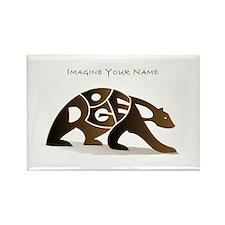Roger brown bear Rectangle Magnet
