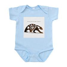Roger brown bear Infant Bodysuit