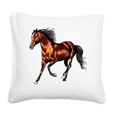 Bay Horse, Dreamer Square Canvas Pillow