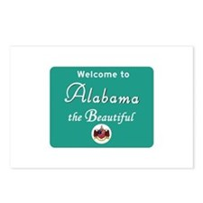 Welcome to Alabama - USA Postcards (Package of 8)