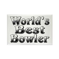 WORLDS BEST Bowler Rectangle Magnet